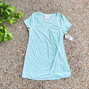 Green Dragon Nordstrom Blue T Shirt Tie Dress Lrg